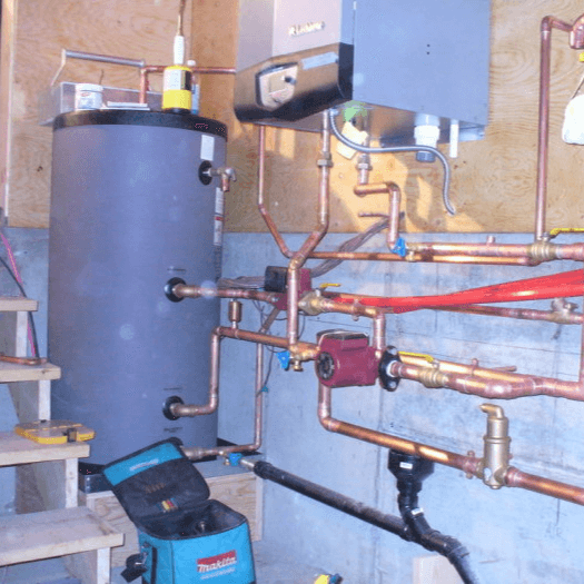 copper piping install
