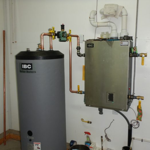 radiant heating and hot water system